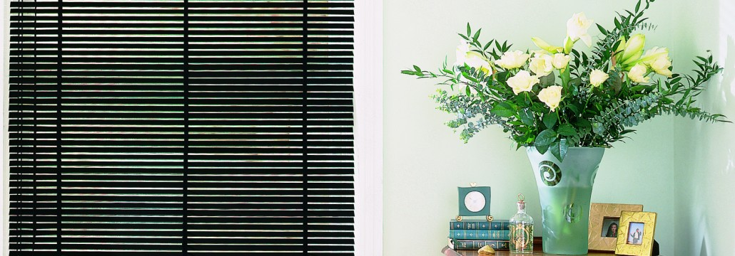 wooden blinds - Piano Black Wood Venetian