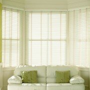 wooden blinds - chalk white